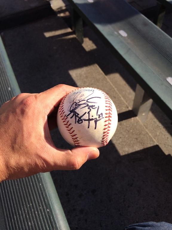 Autograph_of_Brandon_Finnegan_on_a_baseball_Game_5_2014_World_Series