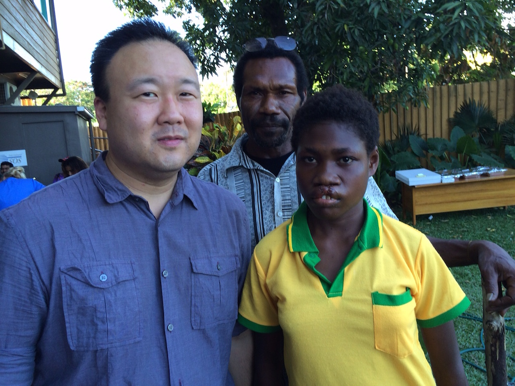 After Photo of Jane Doe with Dr. Roy Kim, Papua New Guinea, Operation of Hope