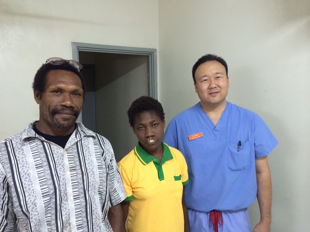 Photo of Jane Doe with Roy Kim, MD, Papua New Guinea, Operation of Hope