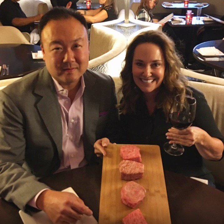Our first business meeting with JAM Global Consulting at 5A5 Steak Lounge, San Francisco, CA